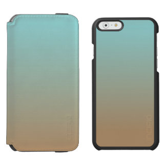 Iced Coffee Limpet Shell Aqua Sea Blue and Brown Incipio Watson™ iPhone 6 Wallet Case