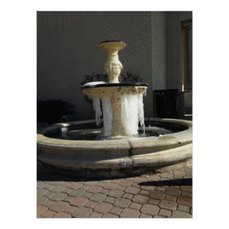 Iced Fountain Poster