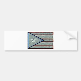 Iced Out Puerto Rican Flag Bumper Sticker