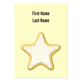 Iced Star Cookie. Yellow and Cream. Business Cards