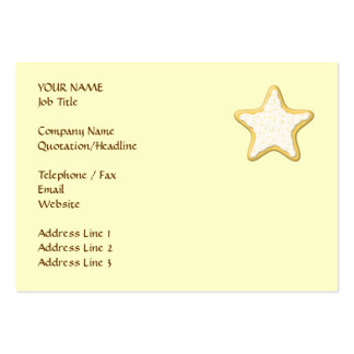 Iced Star Cookie. Yellow and Cream. Pack Of Chubby Business Cards