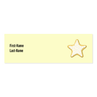 Iced Star Cookie. Yellow and Cream. Business Card Template