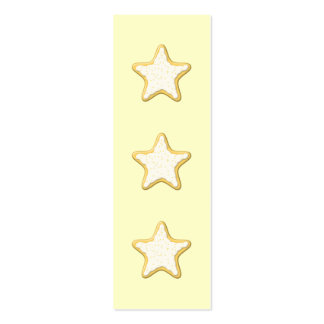 Iced Star Cookie. Yellow and Cream. Business Card Templates