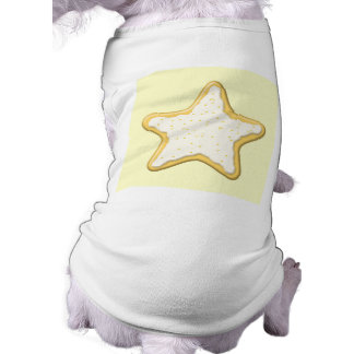Iced Star Cookie Yellow and Cream Dog Tshirt