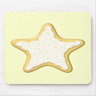 Iced Star Cookie Yellow and Cream Mouse Pad
