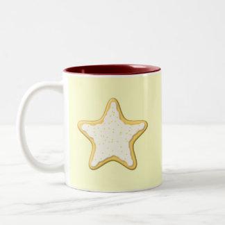 Iced Star Cookie Yellow and Cream Coffee Mug