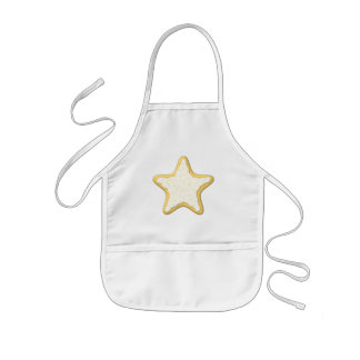 Iced Star Cookie. Yellow and White. Kids' Apron