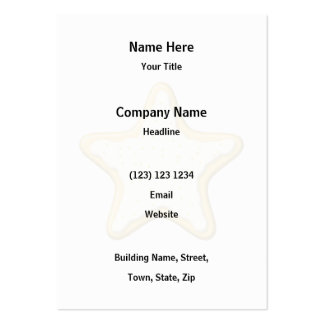 Iced Star Cookie. Yellow and White. Business Card Template