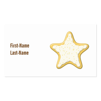 Iced Star Cookie. Yellow and White. Pack Of Standard Business Cards