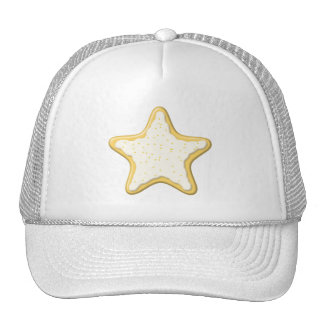 Iced Star Cookie. Yellow and White. Mesh Hat
