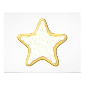Iced Star Cookie Yellow and White Invitation