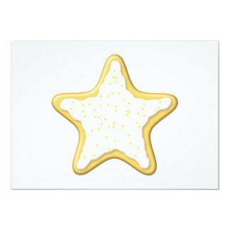 Iced Star Cookie. Yellow and White. Announcement