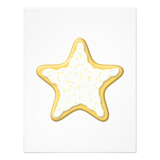 Iced Star Cookie Yellow and White Announcement