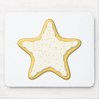 Iced Star Cookie Yellow and White Mouse Pad