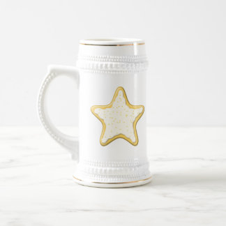Iced Star Cookie. Yellow and White. Coffee Mugs