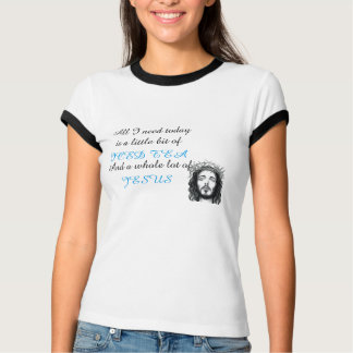 ICED TEA & JESUS Women's Bella  Ringer T-Shirt