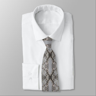 Iced Tree Abstract Design Tie