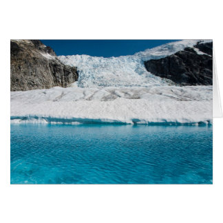 Icefall and Lake, Juneau Icefield (Blank Inside) Card