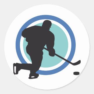 icehockey classic round sticker