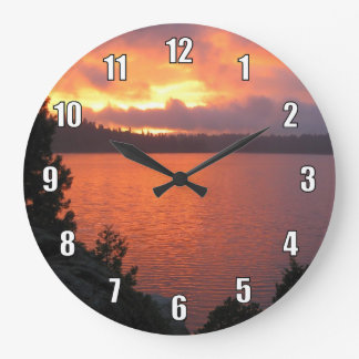 Icehouse Reservoir Sunset Large Clock