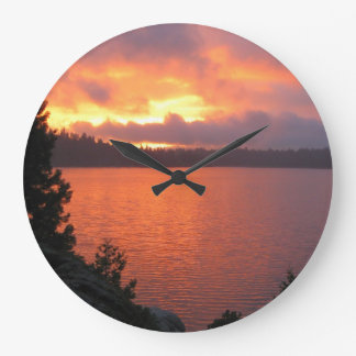 Icehouse Reservoir Sunset (Numberless) Large Clock