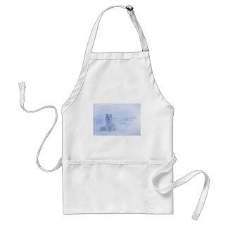 iceland animals power white standard apron
