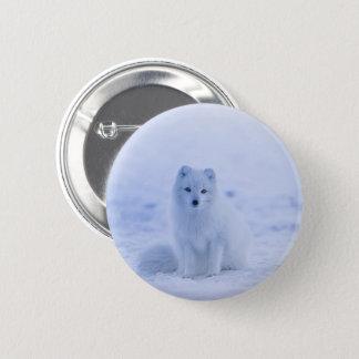Iceland Arctic Fox 6 Cm Round Badge