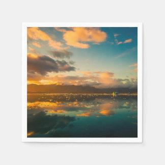 Iceland at Sunset Disposable Serviette