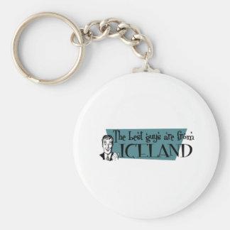 ICELAND BASIC ROUND BUTTON KEY RING