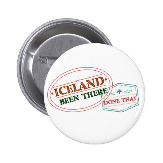 Iceland Been There Done That 6 Cm Round Badge