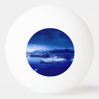 Iceland Blue Landscape Ping Pong Ball