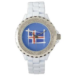 Iceland Brush Flag Wrist Watch