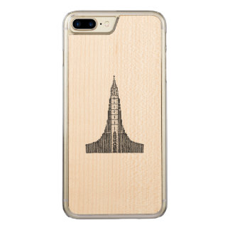 Iceland Cathedral (Hallgrimskirkja) Carved iPhone 8 Plus/7 Plus Case