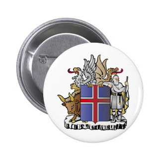 Iceland coat of arms 6 cm round badge