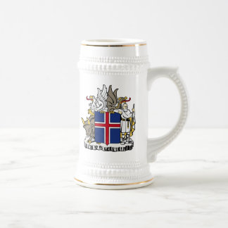 Iceland Coat Of Arms Beer Stein