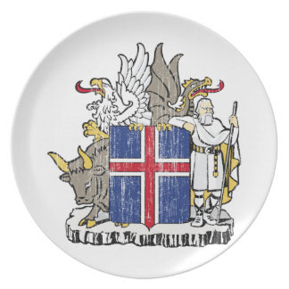 Iceland Coat Of Arms Plate