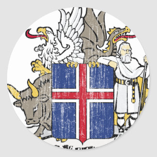 Iceland Coat Of Arms Round Stickers