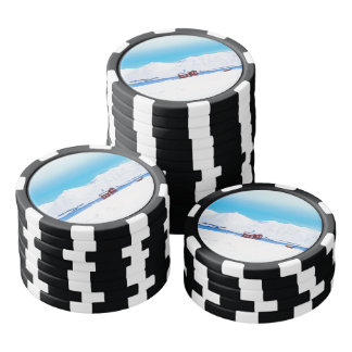 Iceland cottage set of poker chips