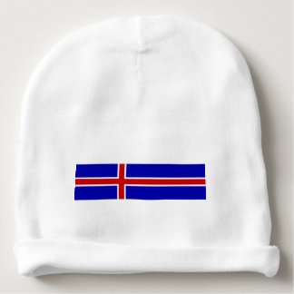 Iceland country long flag nation symbol republic baby beanie