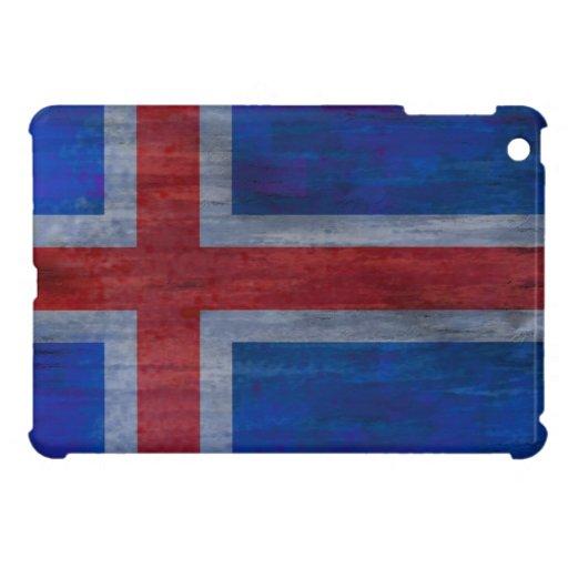 Iceland distressed flag iPad mini cover