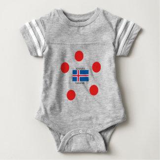 Iceland Flag And Icelandic Language Design Baby Bodysuit