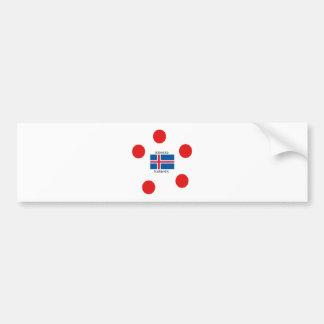 Iceland Flag And Icelandic Language Design Bumper Sticker