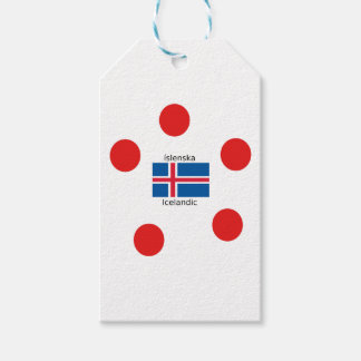Iceland Flag And Icelandic Language Design Gift Tags
