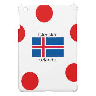 Iceland Flag And Icelandic Language Design iPad Mini Cover