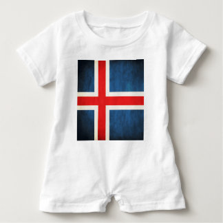 Iceland flag baby bodysuit