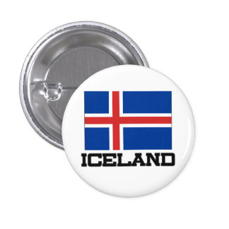 Iceland Flag Pinback Button