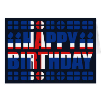 Iceland Flag Birthday Card