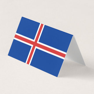 Iceland Flag Business Card