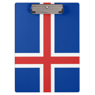 Iceland Flag Clipboard