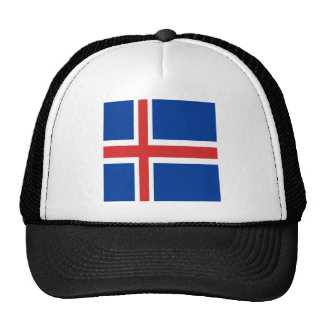 Iceland flag design on products cap